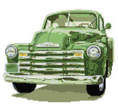 cross stitch pattern Chevy Truck
