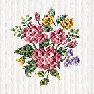 cross stitch pattern Alyssa`s Flowers