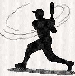 cross stitch pattern Batter Up