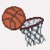 cross stitch pattern Basketball