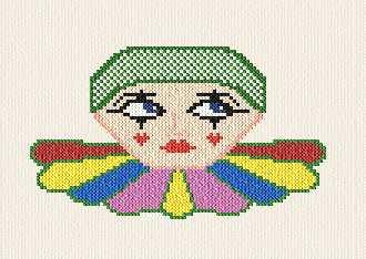 cross stitch pattern Clown - free pattern!