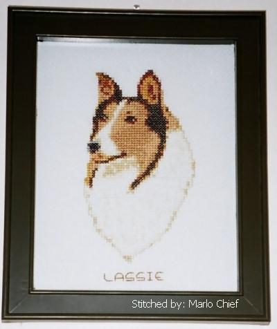 cross stitch pattern Collie (small)