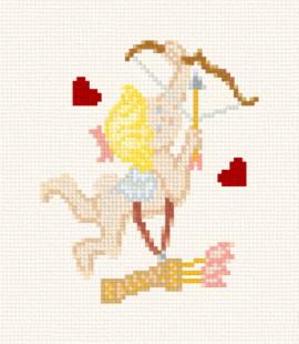 cross stitch pattern cupid