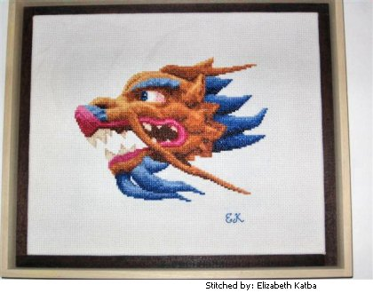 cross stitch pattern Dragon