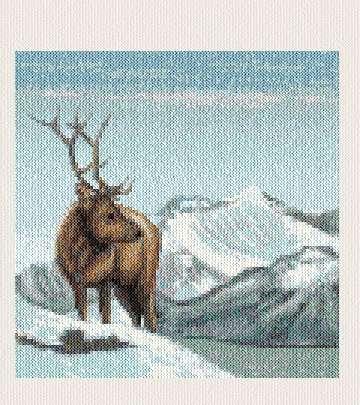 cross stitch pattern Elk
