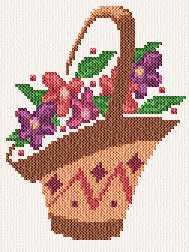 cross stitch pattern Flower Basket