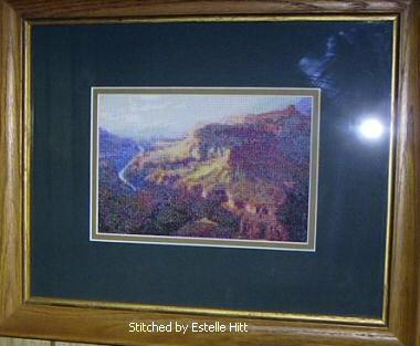 cross stitch pattern Grand Canyon