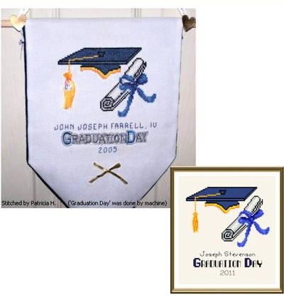 cross stitch pattern Graduation Day