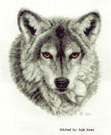 cross stitch pattern Grey Wolf