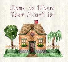 cross stitch pattern Home