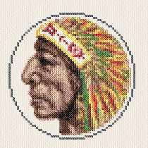cross stitch pattern Native Indian