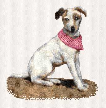 cross stitch pattern Jack Russell Terrier