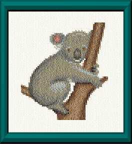 cross stitch pattern Koala