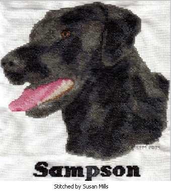 cross stitch pattern Sampson (lab)