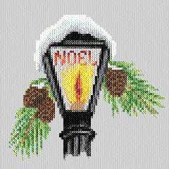 cross stitch pattern Christmas Lamp