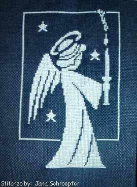 cross stitch pattern Little Angel