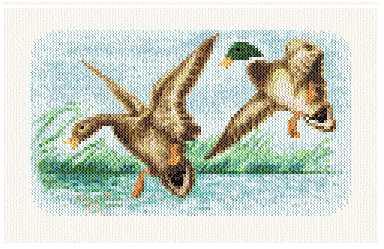 cross stitch pattern Mallards