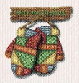 cross stitch pattern Warm Wishes