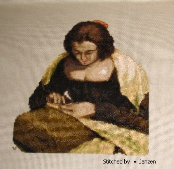 cross stitch pattern Needlewoman
