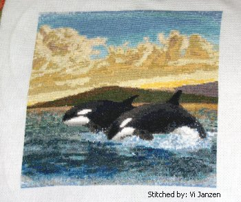 cross stitch pattern Orcas