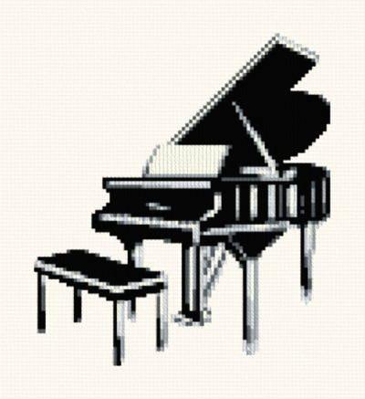 cross stitch pattern Grand Piano