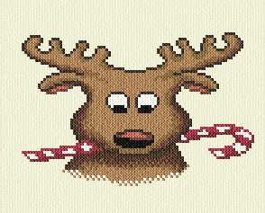 cross stitch pattern Reindeer