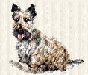 cross stitch pattern Scottish Terrier