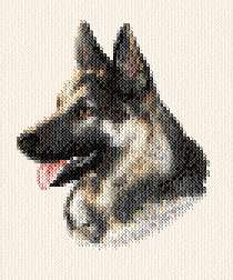 cross stitch pattern Spencer - German Shepherd