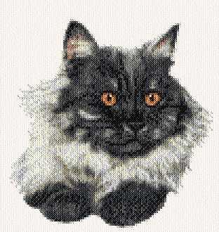 cross stitch pattern Smoke Persian