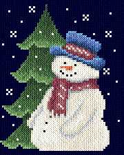 cross stitch pattern Snow man