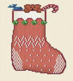cross stitch pattern Christmas Stocking