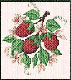 cross stitch pattern Gayle`s Strawberries