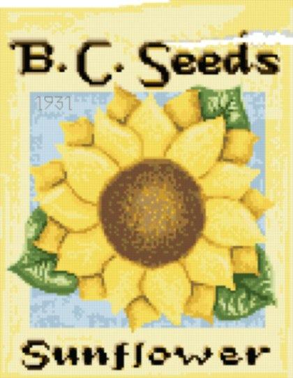 cross stitch pattern Sunflower Seeds