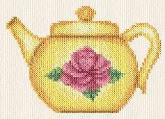 cross stitch pattern Tea Pot