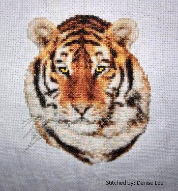 cross stitch pattern Bengal Tiger