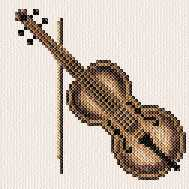 cross stitch pattern Violin