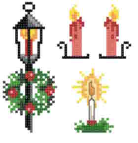 cross stitch pattern Small Christmas Designs 2