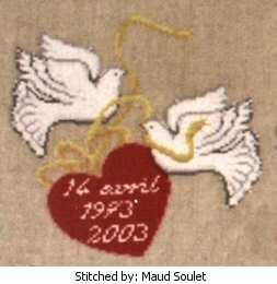 cross stitch pattern Doves