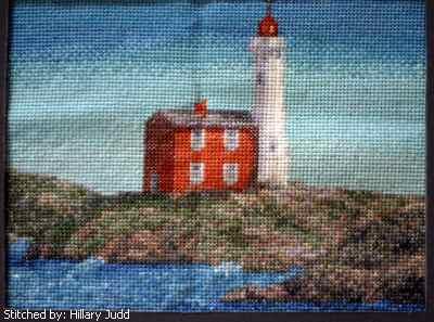 cross stitch pattern Fisgard Lighthouse