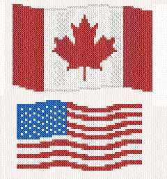 cross stitch pattern flags