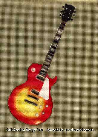 cross stitch pattern Gibson Les Paul