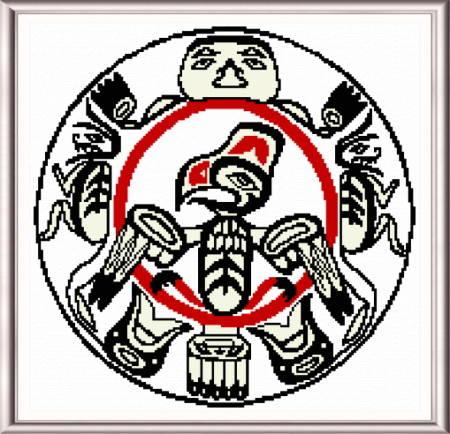 cross stitch pattern Haida Drum