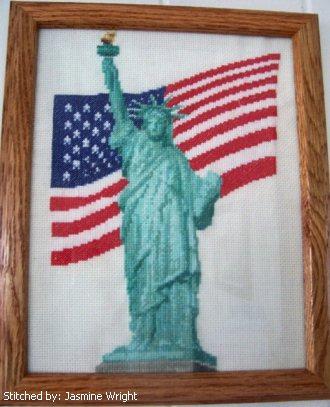 cross stitch pattern Liberty 9/11 Memorial