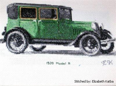 cross stitch pattern 1928 Model A