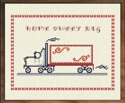 cross stitch pattern Home Sweet Rig