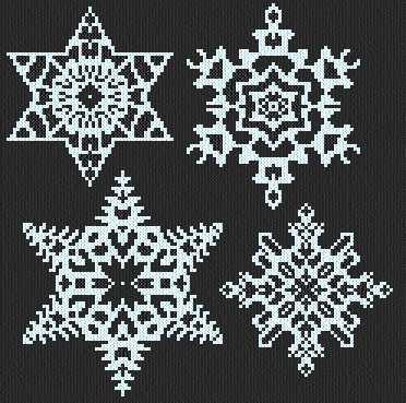cross stitch pattern Snowflakes 1