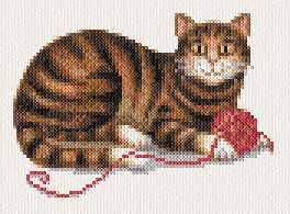 cross stitch pattern Tabby