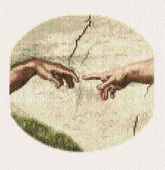 cross stitch pattern Creation of Adam