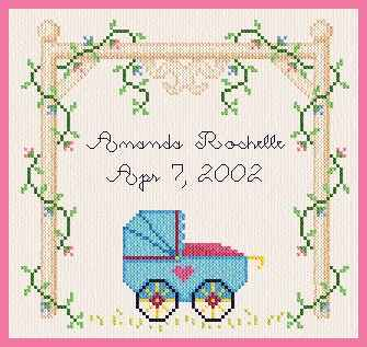 cross stitch pattern Baby Buggy