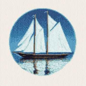cross stitch pattern Bluenose